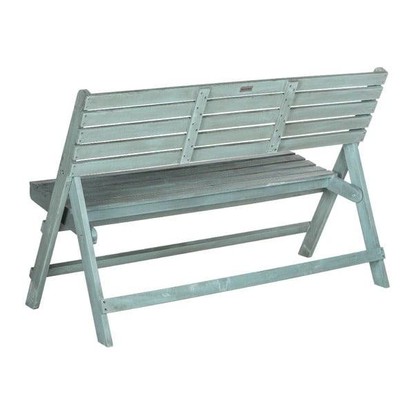 Niebieska rozkładana ławka ogrodowa Safavieh Ferrat