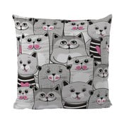 Poduszka Butter Kings Grey Kitties, 50x50 cm