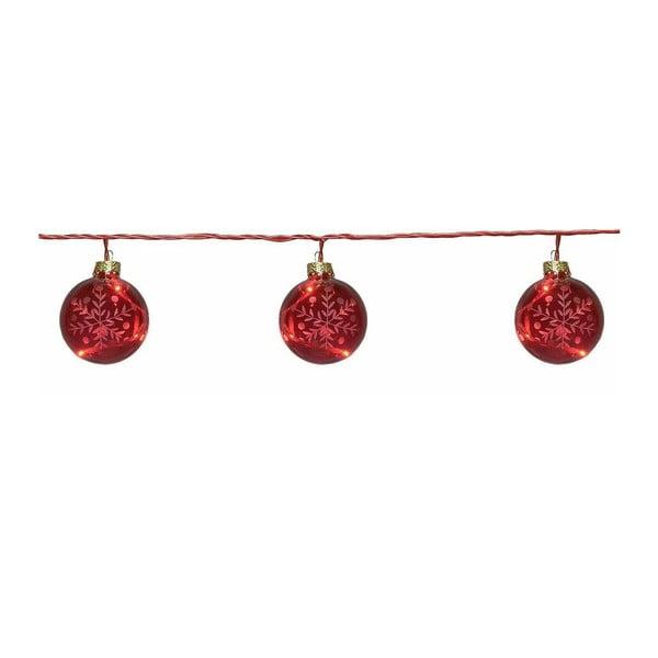 Świecący łańcuch Best Season Glass Beads Red