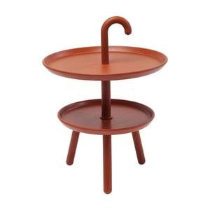 Pomarańczowy stolik ogrodowy Kare Design Jacky, ⌀ 42 cm