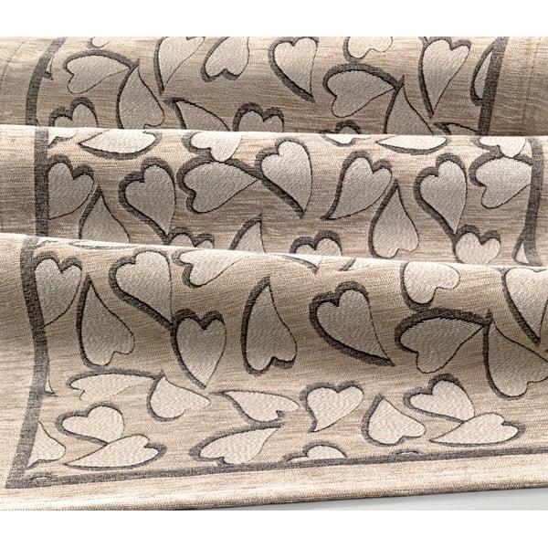 Wytrzymały dywan kuchenny Webtapetti Corazon Tortora, 55x115 cm