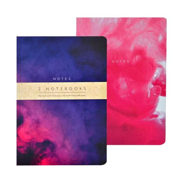 Zestaw 2 notatników A5 Portico Designs Purples Abstract