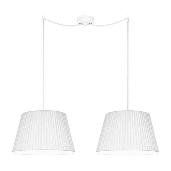 Biała podwójna lampa wisząca Sotto Luce KAMI Elementary M 2S