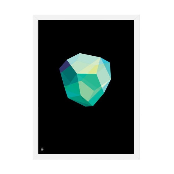 Plakat Emerald Black, 50x70 cm