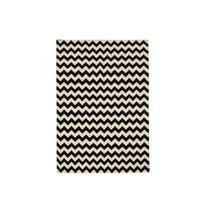 Ręcznie tkany dywan Zig Zag Black, 120x180 cm