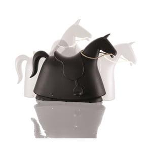 Czarny koń bujany Rocky
