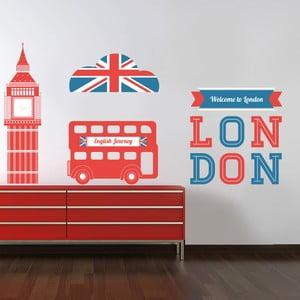 Naklejka na ścianę Symbole Londynu, 60x90 cm
