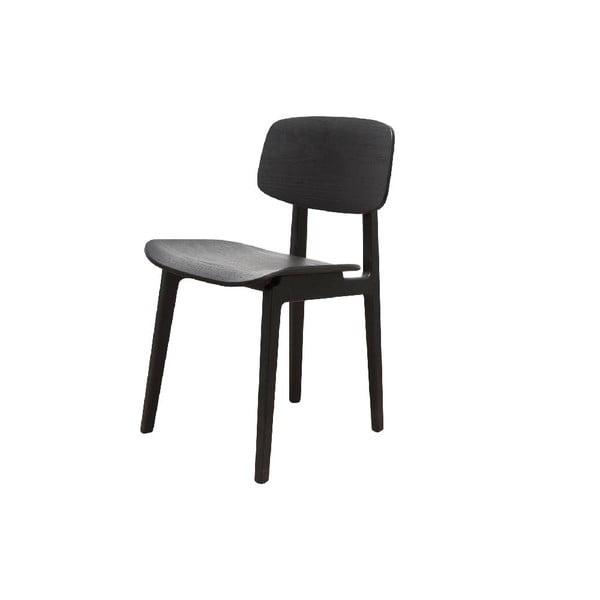 Czarne krzesło dębowe do jadalni NORR11 NY11