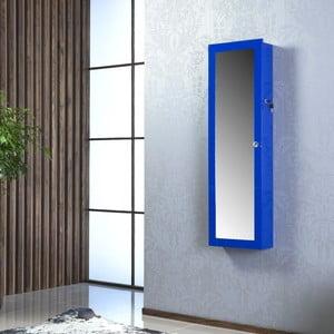 Zamykane lustro wiszące ze schowkiem Nadia, niebieskie