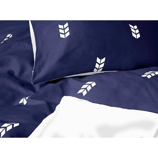 Niebieska pościel Hawke&Thorn Finch Straw, 150 x 200 cm + poduszka 50 x 60 cm