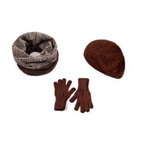 Zestaw czapki, szalika i rękawiczek Lavaii Frederika