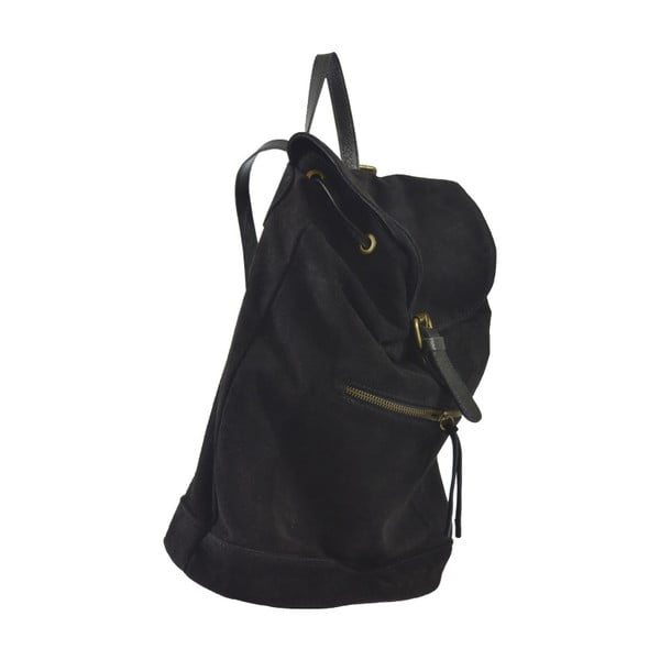 Czarny skórzany plecak Georgia