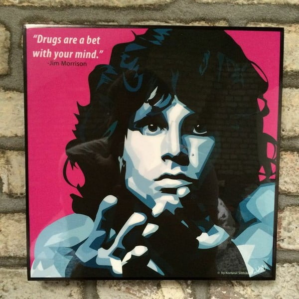 "Obraz ""Jim Morrison - drugs are a bet with your mind"""