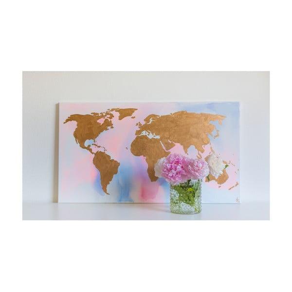 Obraz Rose Gold World, 50x90 cm