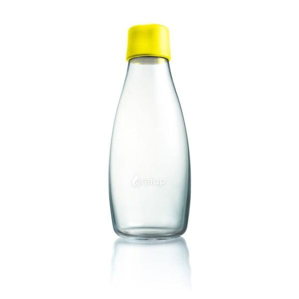 Żółta butelka ze szkła ReTap z dożywotnią gwarancją, 500 ml