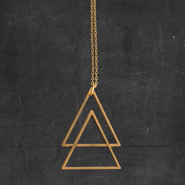 Naszyjnik Triangles Gold z kolekcji Geometry