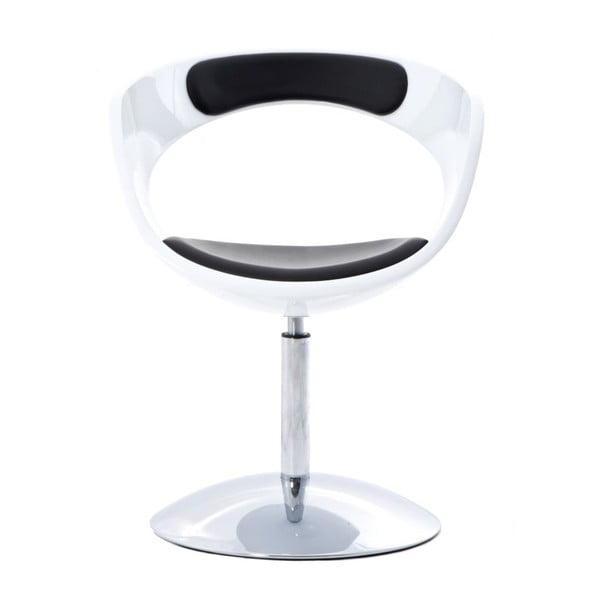Krzesło obrotowe Flop, białe/czarne