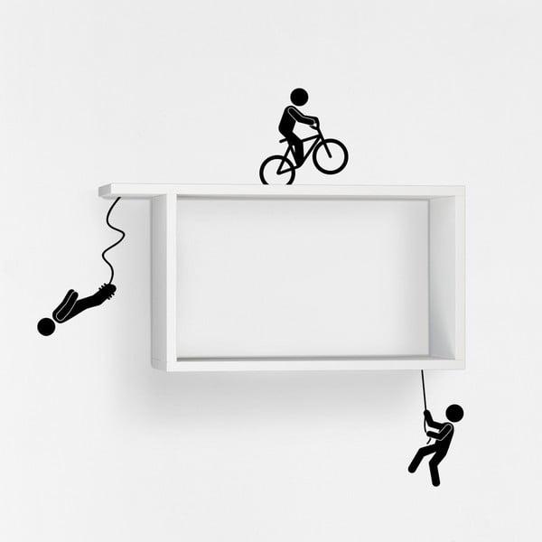 Półka z naklejką Sportmen White