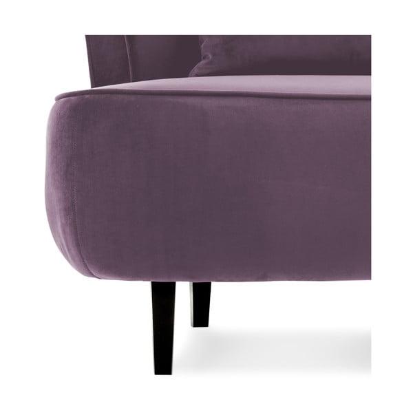 Fioletowy fotel Vivonita Douglas Love Seat