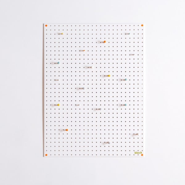 Wielofunkcyjna tablica Pegboard 61x81 cm, biała