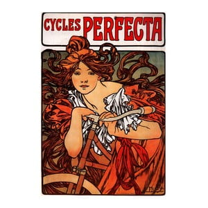 """Obraz """"Cycles Perfecta"""" (Alfons Mucha), 40x60 cm"""