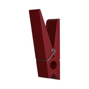 Czerwony wieszak w kształcie klamerki Swab