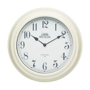 Kremowy zegar ścienny Kitchen Craft Living Nostalgia, 25,5 cm