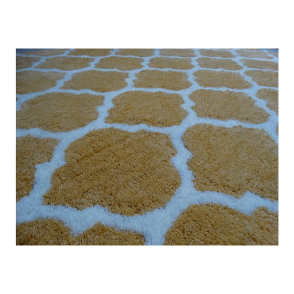 Żółty dywan Smooth, 120x170cm