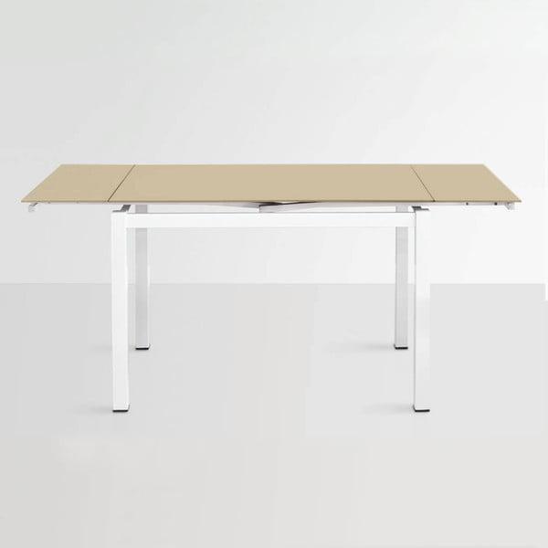 Stół rozkładany Queen, 110-170 cm, beżowy