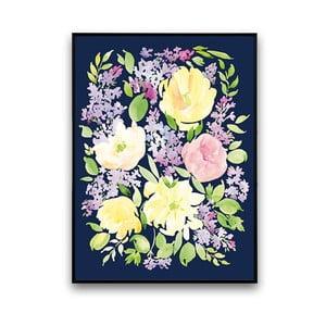 Plakat z żółtymi kwiatami, 30 x 40 cm