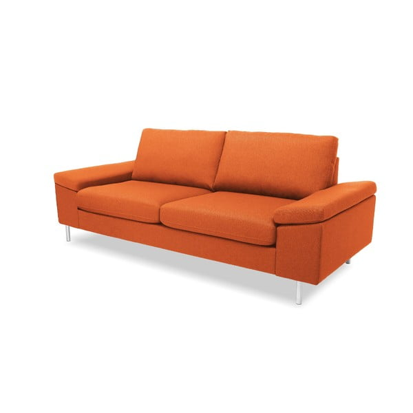 Pomarańczowa sofa trzyosobowa VIVONITA Nathan