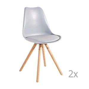 Zestaw 2 szarych krzeseł 13Casa Sven