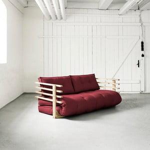 Sofa rozkładana dwuosobowa Karup Funk Natural/Bordeaux