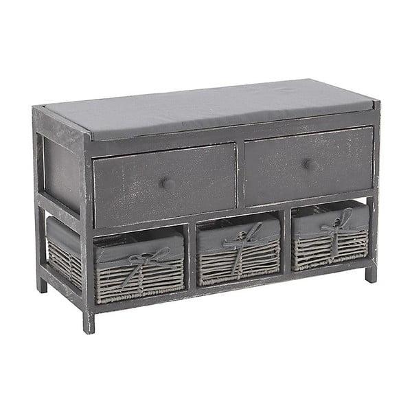 Ławka z szufladami In Grey