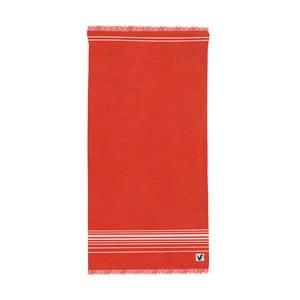 Czerwony ręcznik Origama Flat Seat, 100x200cm