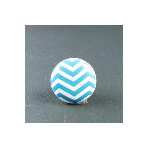 Gałka porcelanowa Blue Zigzag