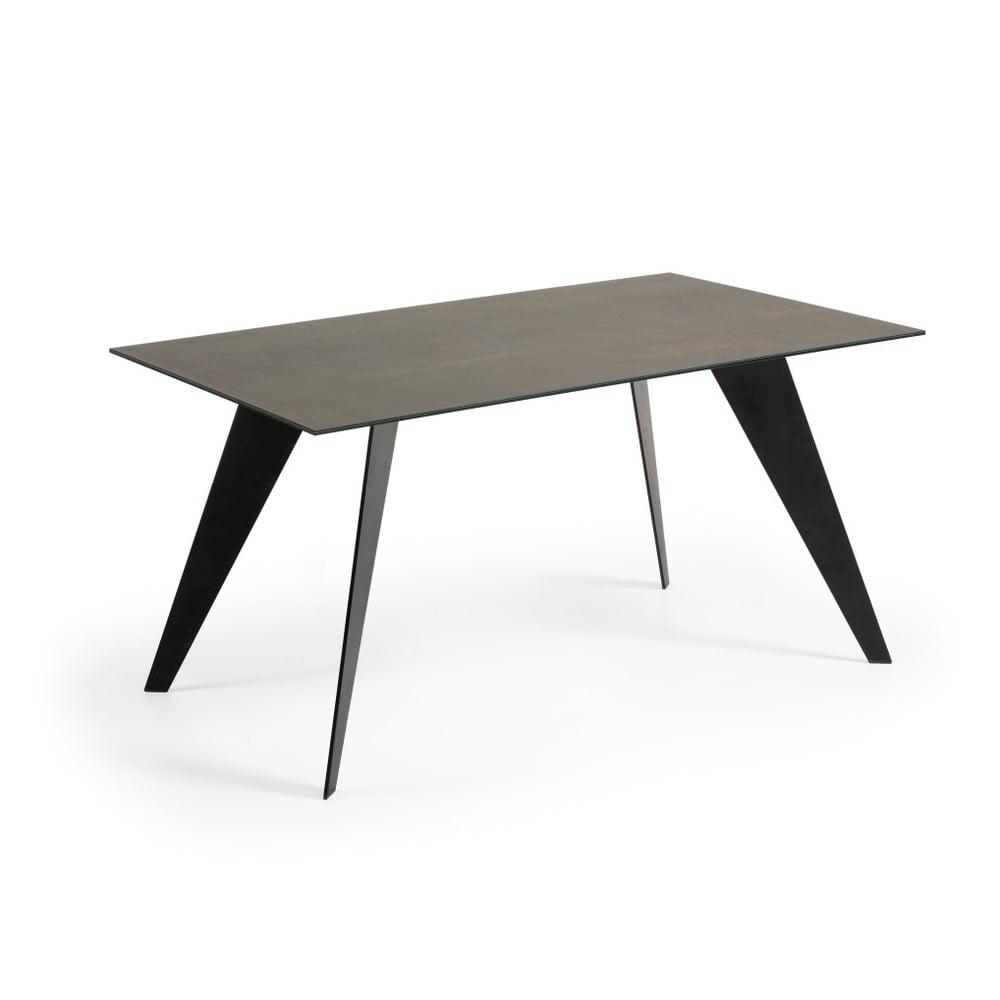 Stół do jadalni z szarym blatem La Forma Nack, 90x160cm