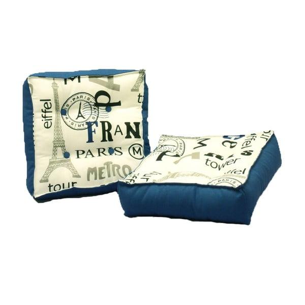 Zestaw 2 poduszek do siedzenia z nebieskimi szczegółami 13Casa Paris
