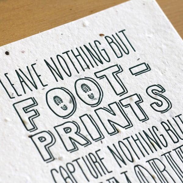 Plakat Leave nothing 41x30 cm
