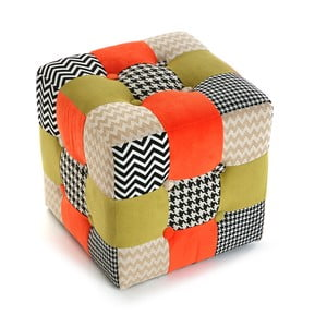 Puf Red Patchwork