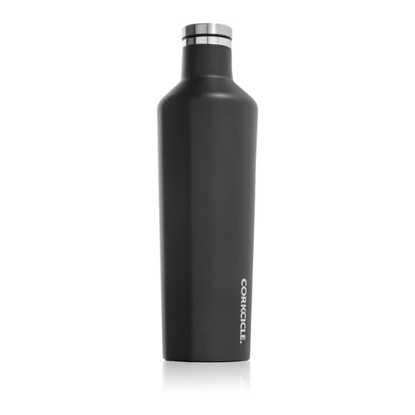 Czarna   butelka termiczna Root7 Matte Black Large, 740 ml