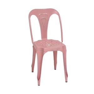 Metalowe krzesło retro Sofian, różowe