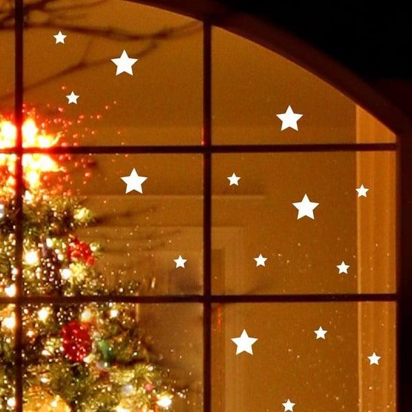 Elektrostatyczna   Naklejka Fanastick Bright White Stars
