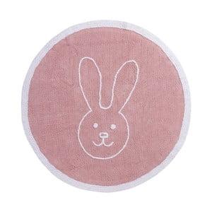 Różowy dywan bawełniany Happy Decor Kids Bunny, ⌀140cm