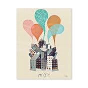 Plakat Michelle Carlslund My City, 50x70cm