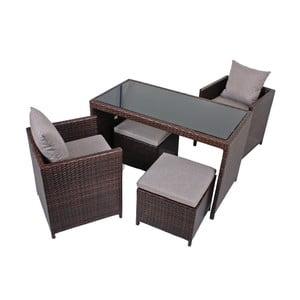 Zestaw stołu, 2 foteli i 2 stołków ADDU Montpellier
