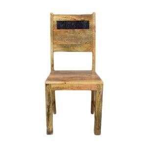 Krzesło z litego drewna mango Massive Home Bella