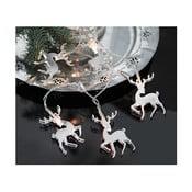 Świecący łańcuch Mirror Reindeers