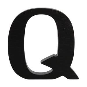 Czarna drewniana litera Typoland Q