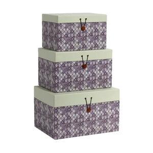 Zestaw 3 pojemników Diamond Purple